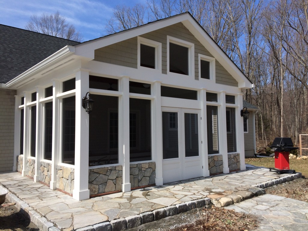 Custom screen porch in North Stamford CT