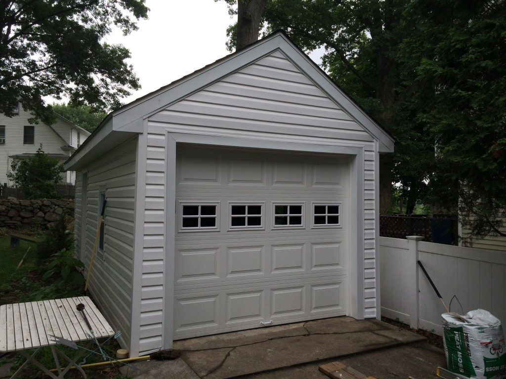 Detached garage renovation in Fairfield county